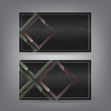 Van het het glasthema van de textiel en van het neon het adreskaartjemalplaatje Stock Foto's