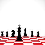 Het groepswerkconcept van het schaak Stock Afbeelding