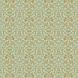 Van het het huwelijksdamast van Aqua het gouden bloemen naadloze patroon Stock Afbeeldingen