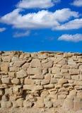 Van het het kantelenfort van het Tabarcaeiland het detail van de het metselwerkmuur Stock Afbeeldingen