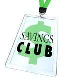 Van het het Kentekenidentiteitskaart van de besparingenclub bespaart de Speciale Korting meer Stock Fotografie