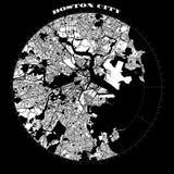 Van het het Kompasontwerp van Boston de Kaart Artprint stock illustratie