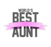 van het het lintteken van de werelden beste tante de illustratieontwerp Royalty-vrije Stock Fotografie