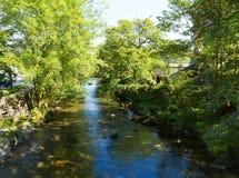 Van het het Meerdistrict van de Elterwaterrivier de vallei van Cumbria van Grote Langdale royalty-vrije stock afbeelding