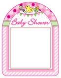 Van het het meisjeskader van de babydouche de drukblad Stock Afbeeldingen