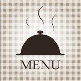 Van het het menumalplaatje van het restaurant de vectorillustratie Stock Foto