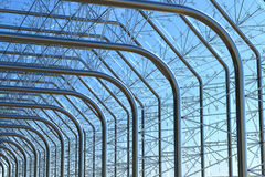 Van het het metaalglas van het staal de muurbouw Royalty-vrije Stock Foto's