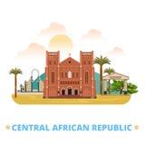 Van het het ontwerpmalplaatje van de Centraalafrikaanse Republiek de Vlakke kar Royalty-vrije Stock Afbeeldingen