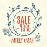 Van het het ontwerpmalplaatje van de Kerstmisverkoop het Webbanner Stock Afbeeldingen