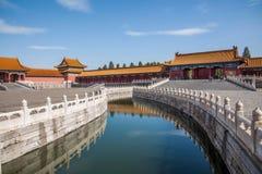 Van het het Paleismuseum van Peking de Nationale Brug van Jinshui Stock Afbeelding