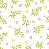 Van het het patroon retro uitstekend ontwerp van Pasen naadloos van de de partijvakantie de vieringsbehang en textiel van de groe Royalty-vrije Stock Foto