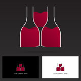 Van het het pictogramontwerp van het wijnembleem het malplaatjeelementen - Voorraadvector Royalty-vrije Stock Afbeelding