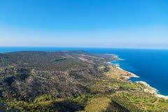 Van het het Schiereiland Nationale Park van Cyprus Akamas de berg` s bovenkant royalty-vrije stock afbeeldingen
