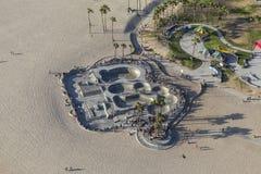 Van het het Strandskateboard van Venetië het Parkantenne in Los Angeles Royalty-vrije Stock Afbeeldingen