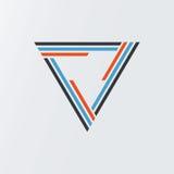 Van het het symboolmalplaatje van de driehoekstechnologie van het het pictogramontwerp vectoreps illustratie stock afbeeldingen