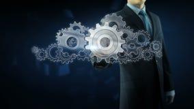 Van het het toestelteam van het bedrijfsmensensucces het werkconcept stock videobeelden