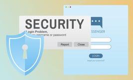 Van het het Wachtwoordinformatienet van de veiligheidssysteemtoegang het Toezicht Concep vector illustratie