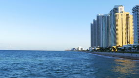 Van het het zuidenstrand van Miami van de de zonsondergangpijler het panorama 4k Florida de V.S. stock videobeelden