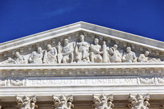 Van het Hooggerechtshofstandbeelden van de V.S. het Washington DC van Capitol Hill royalty-vrije stock foto