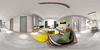 360 van het Huisgraden Binnenland vector illustratie