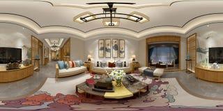 360 van het Huisgraden Binnenland stock illustratie