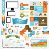 Van het Infographicpictogram en Element Inzameling Stock Afbeeldingen