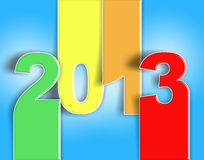 Van het jaarKerstmis van de verandering 2013 het nieuwe rode blauw Stock Foto