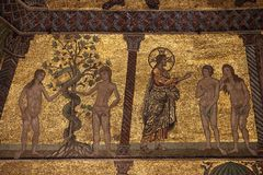 Van het juli 2014 plafond van Florence, Italië de kerk Florence stock afbeelding