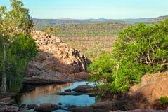 Van het Kakadu het Nationale Park (Noordelijk Grondgebied Australië) landschap dichtbij Gunlom-vooruitzicht royalty-vrije stock afbeelding