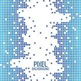 Van het kanten blauw pixel ontwerp als achtergrond met wit in centrum vector illustratie