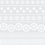 Van het Kerstmis het nieuwe jaar van de winter naadloze patroon Royalty-vrije Stock Foto