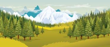 Van het landschap vectorook beschikbaar illustration Royalty-vrije Stock Foto's