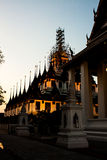 Van het landschapslohaprasart van de nachtmening de Tempel Bangkok Royalty-vrije Stock Afbeeldingen