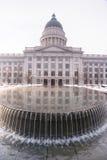Van het Landschapssalt lake city Utah van de de winterfontein de Hoofdarchitectuur Royalty-vrije Stock Foto