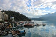 Van het Meeryuchi Nantou van de zonmaan de provincie Taiwan stock foto