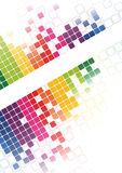 Van het mozaïek abstracte heldere Vector als achtergrond Royalty-vrije Stock Afbeeldingen