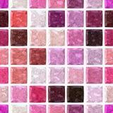 Van het het mozaïekpatroon van de oppervlaktevloer de naadloze achtergrond met witte pleister - doorboor, purple, violette en mag Royalty-vrije Stock Fotografie