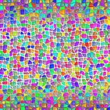 Van het Mozaïekgaudi van de steenmuur de Stijlachtergrond Stock Fotografie