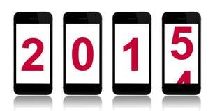 2015 van het nieuwe jaar Stock Fotografie