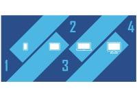Van het Ontwerpclipart van Infographic van het gadgetapparaat de Aantrekkelijke Diagonaal Royalty-vrije Stock Foto