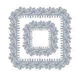 Van het het ontwerpelement van het kantkader vector decoratief hand getrokken vierkant als achtergrond royalty-vrije illustratie