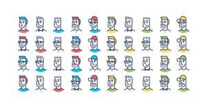 Van het ontwerpmensen van de lijnkunst het pictogramreeks royalty-vrije illustratie