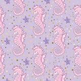 Van het overzeese het Document van de de Kleuren de Vectorillustratie Patroonzeepaardje Kleurrijke van het Beeldscrapbooking van  vector illustratie