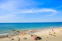 Van het overzeese het zand kuststrand Royalty-vrije Stock Afbeeldingen