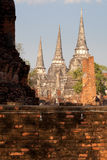 Van het paleisWat Phra van Ayutthaya beroemd oud Si Sanphe Stock Afbeelding