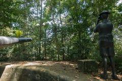 Van het het Parknatuurreservaat van Labrador het vroegere Fort Pasir Panjang, Singapore Stock Foto