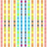 Van het pastelkleur vierkant mozaïek ontwerp als achtergrond naadloos stock illustratie