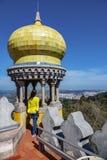Van het penapaleis van DA de de gele koepel en toerist Stock Afbeeldingen