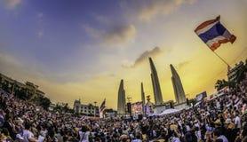 210.000 van het protest van Thailand Stock Foto