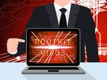 Van het Rootkitvirus de Misdadige Spyware 3d Illustratie van Cyber Stock Fotografie